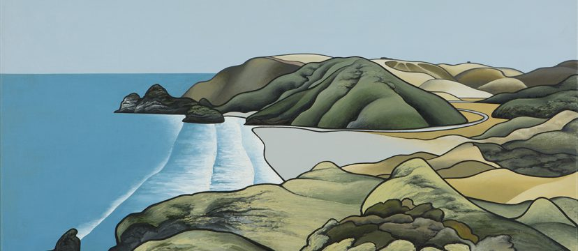 Painting of the coast by Don Binney